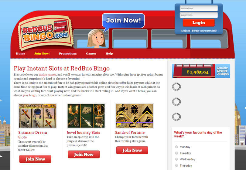 Red Bus Bingo Slots