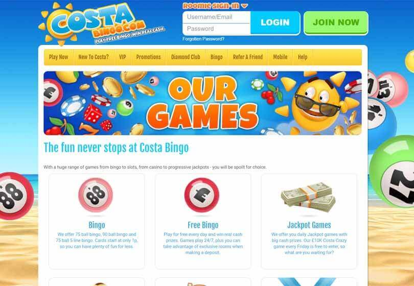 Costa Bingo Games