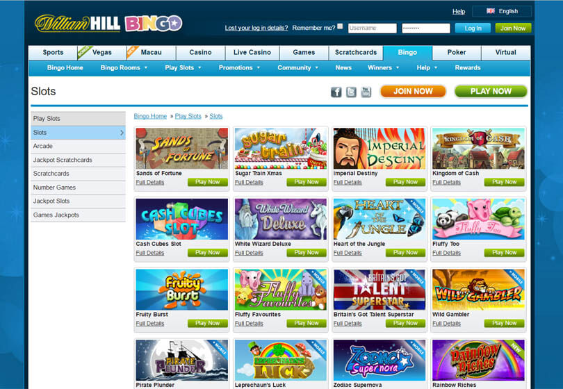 William Hill Bingo Slots