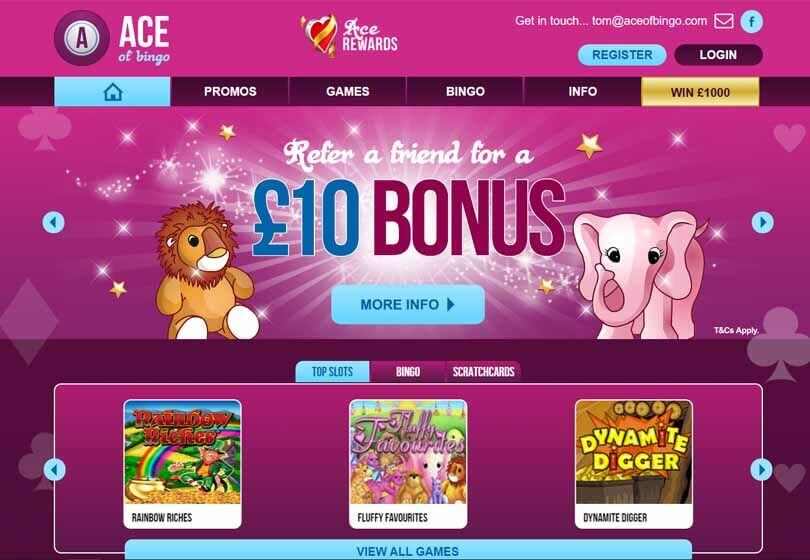 Ace of Bingo Homepage