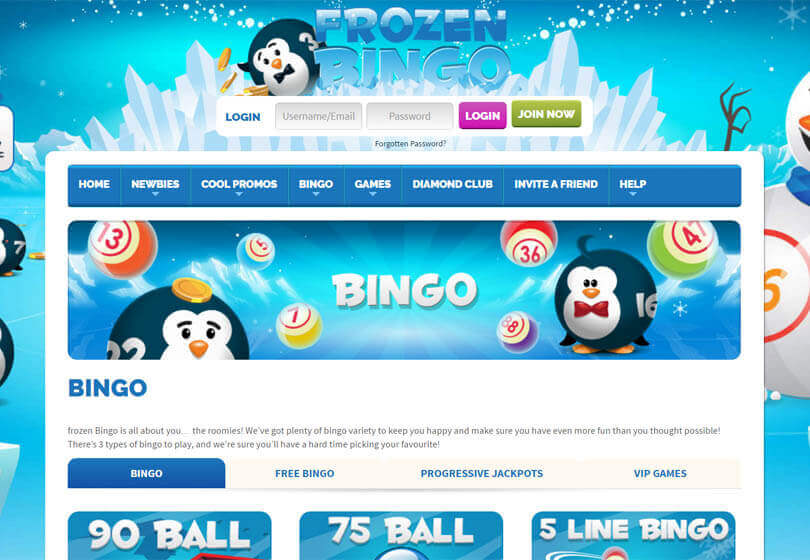 Frozen Bingo Games
