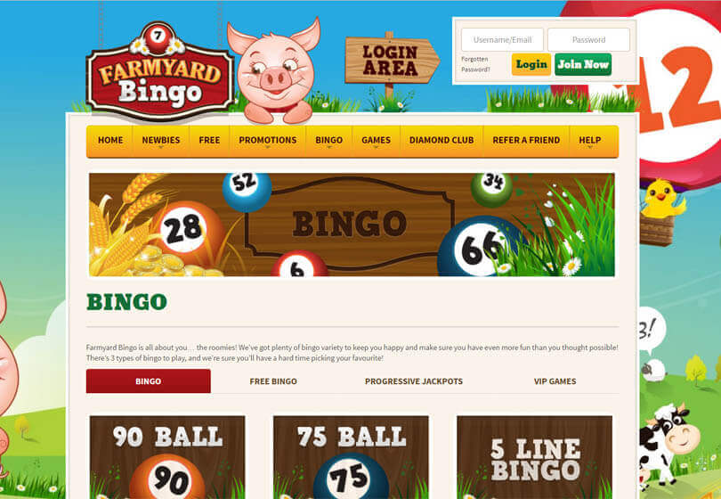 Farmyard Bingo Games