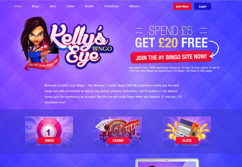 Kelley's Eye Bingo Homepage