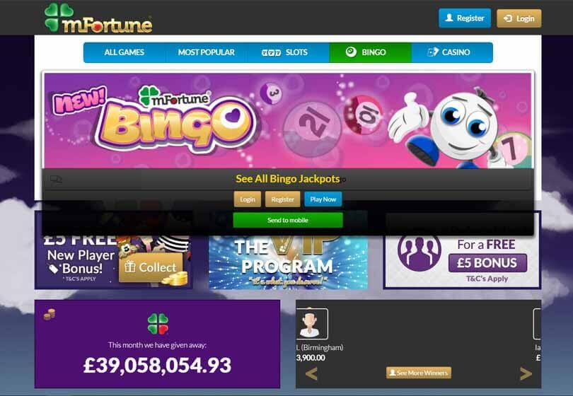 mFortune Bingo Games