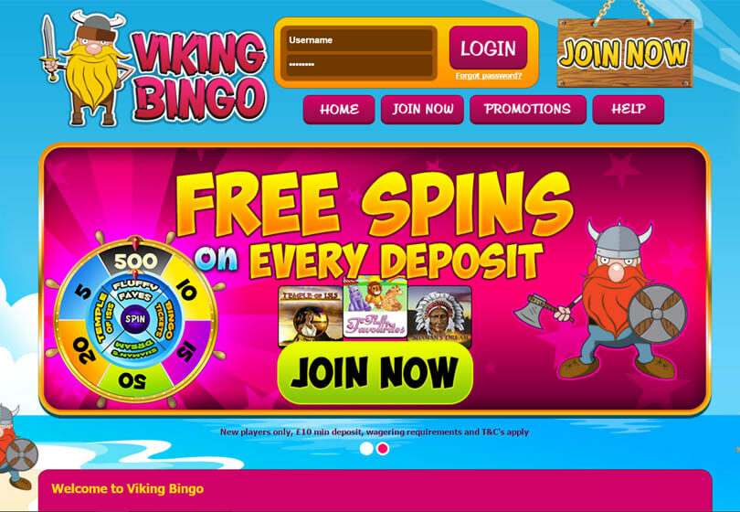 Viking Bingo Homepage