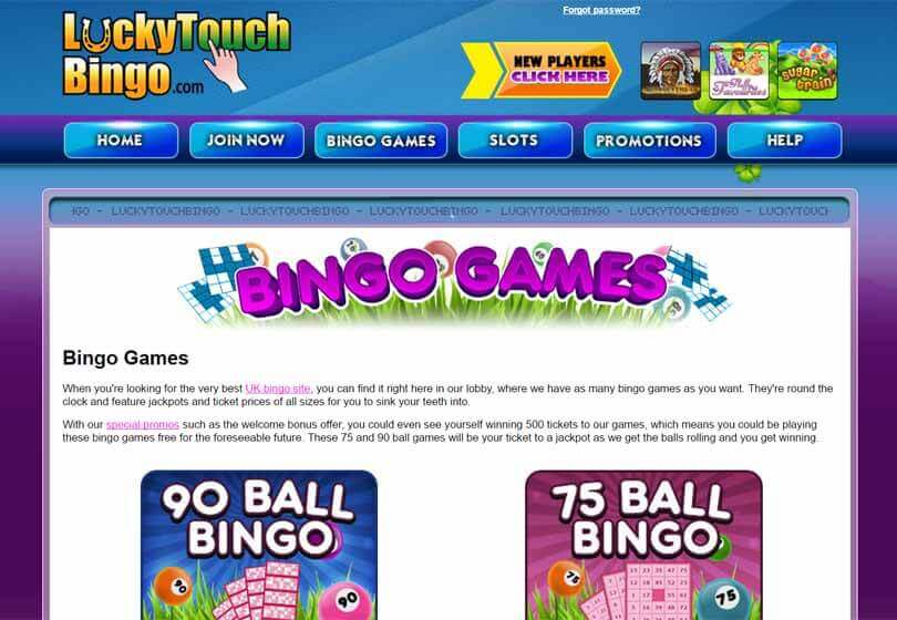 Lucky Touch Bingo Games