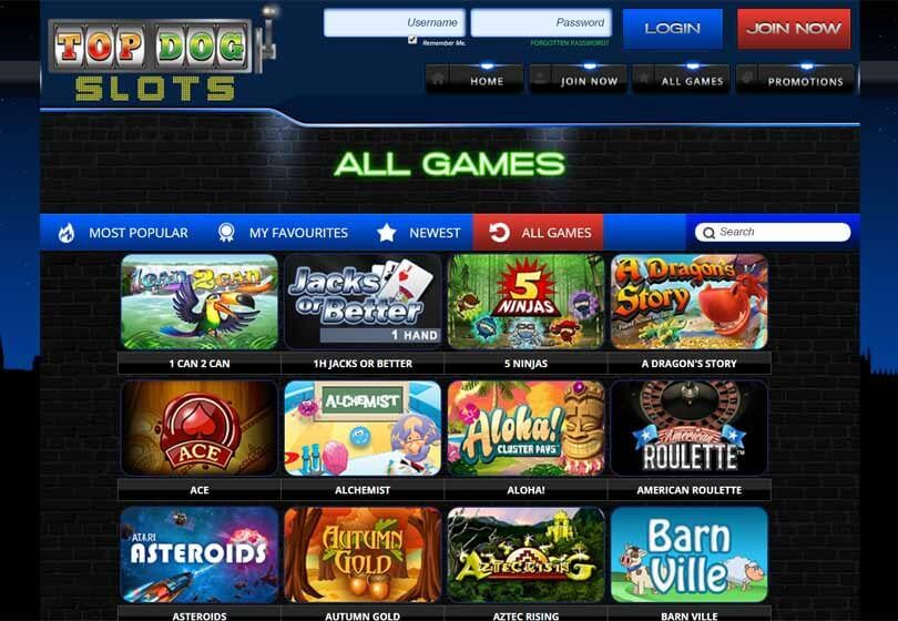 Top Dog Slots Games