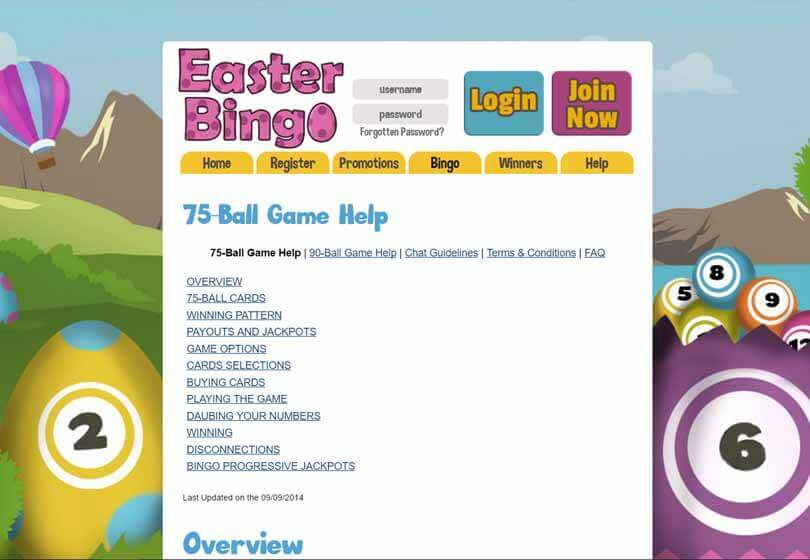 Easter Bingo Games