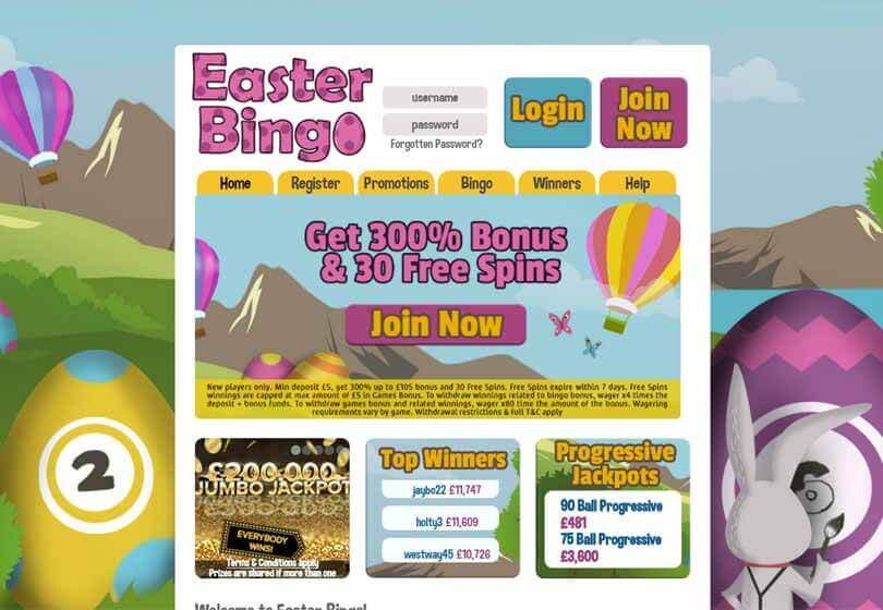 Easter Bingo Homepage