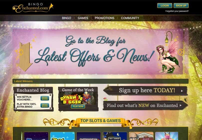 Bingo Enchanted Homepage