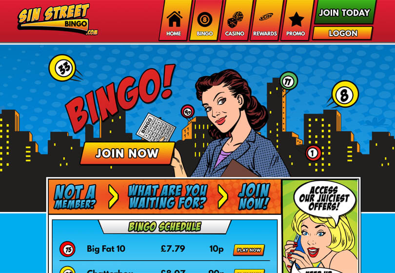 Sin Street Bingo Review – Is this A Scam/Site to Avoid