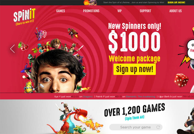 Spinit Homepage