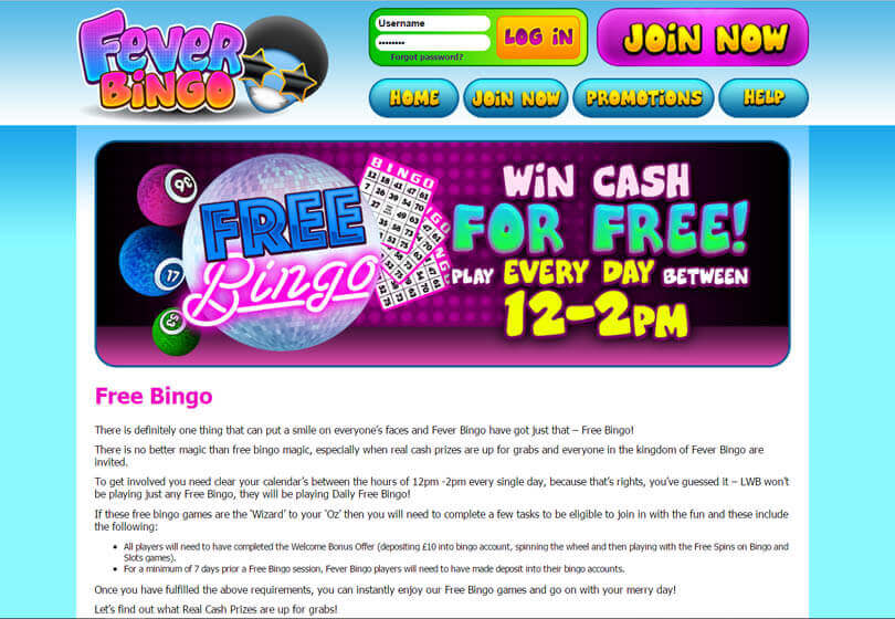 Fever Bingo Games