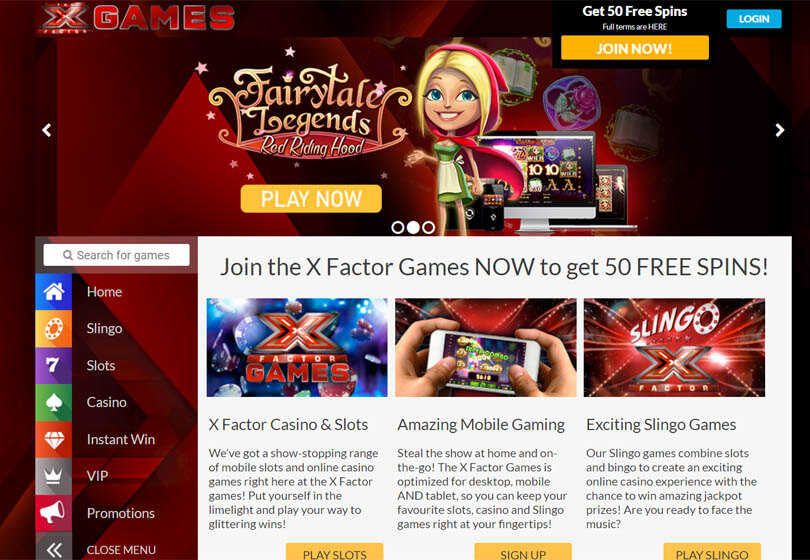 X Factor Homepage
